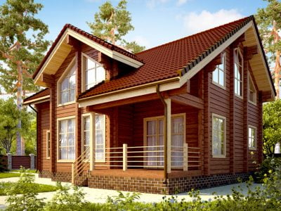частные деревянные дома фото